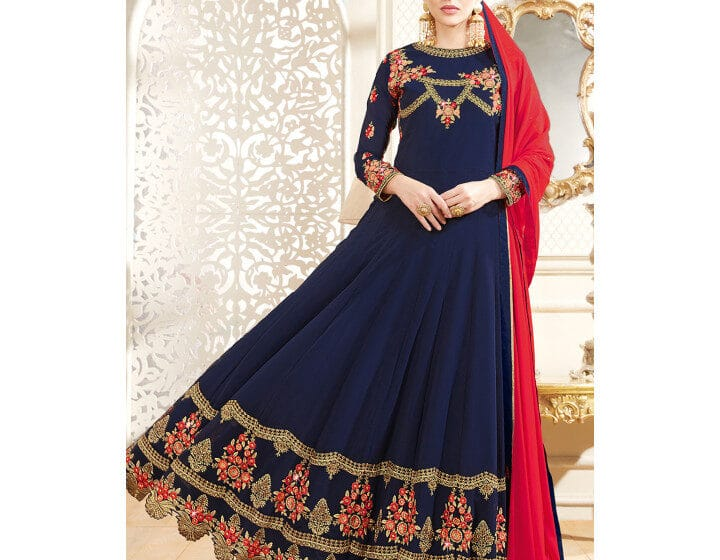 7 Best Blue Anarkali Suit Shopping Online