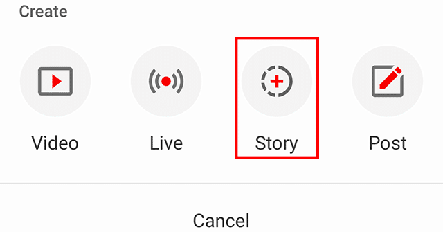 Create a YouTube-Story