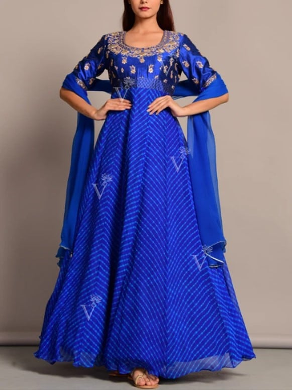 Vasansi Blue Anarkali Suit Set