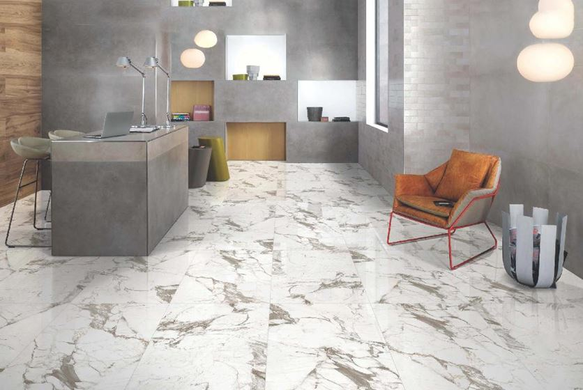 detachment of tiles