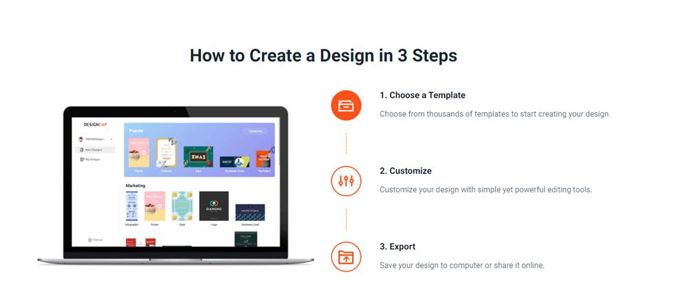 create design in 3 steps