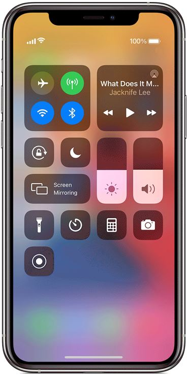 screen recording function of iOS