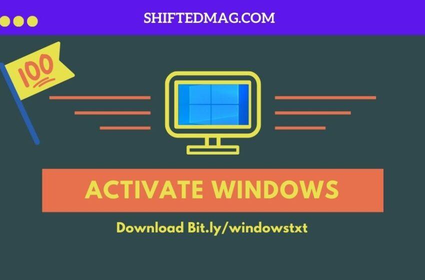 Download Bit.ly/windowstxt Windows 10 Activator TXT Free