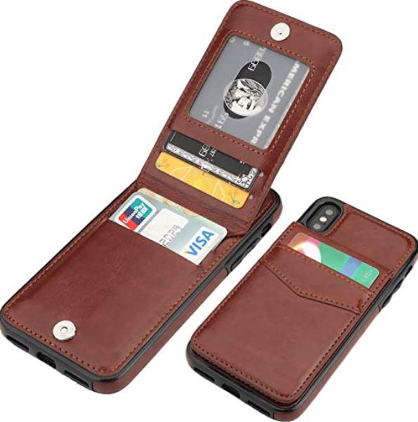 KIHUWEY iPhone XS Cardholder Case