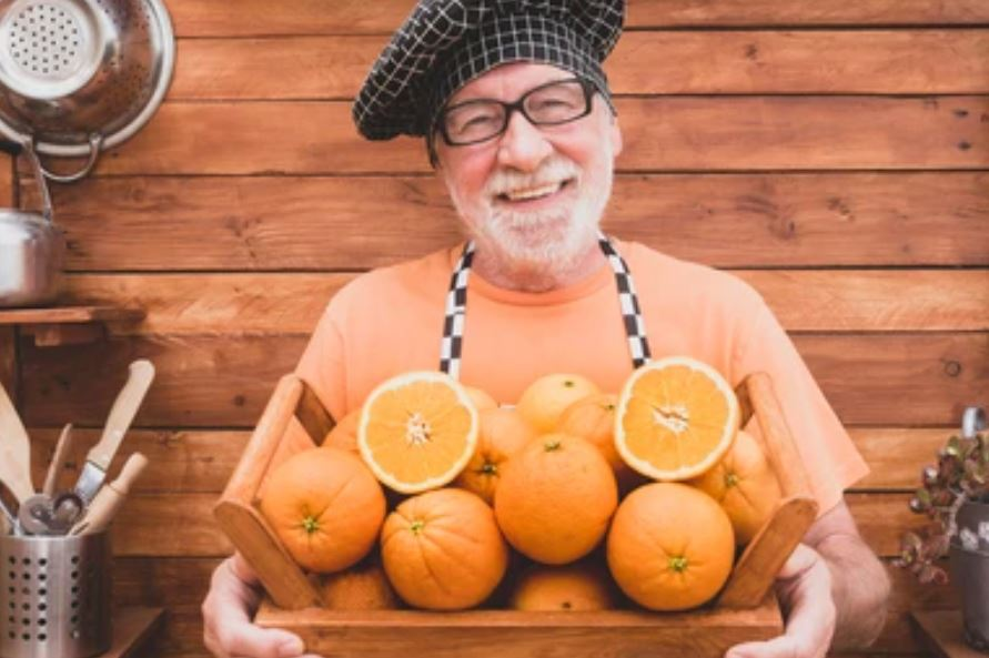 Orangey-orange Classic Basket