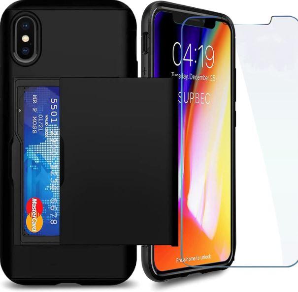 SUPBEC iPhone XS Cardholder Case