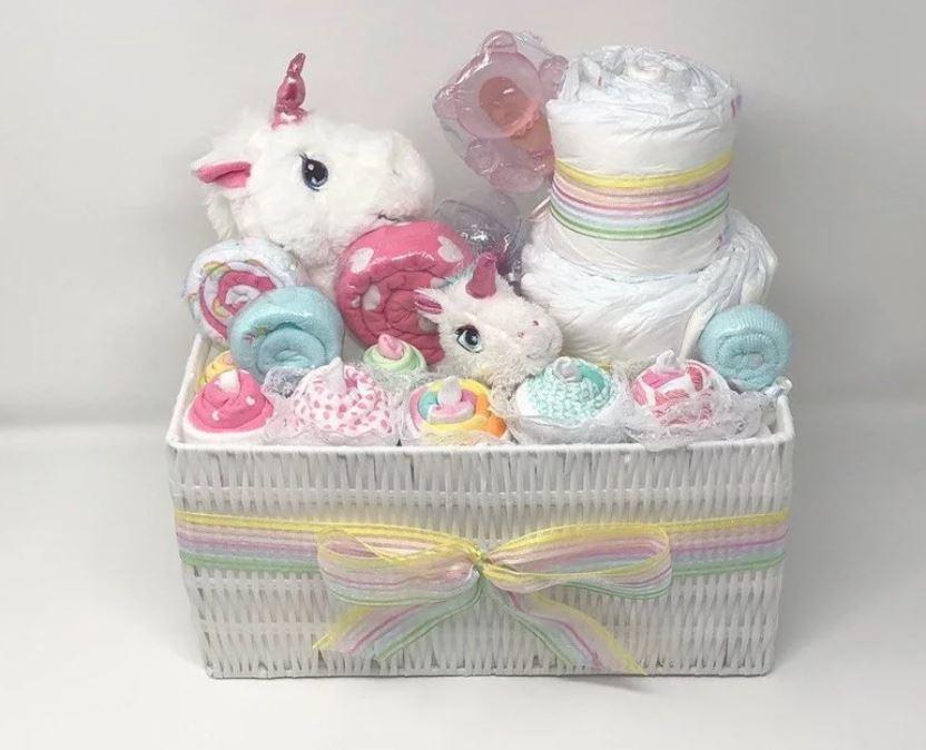 Unicorn Rainbow Spooky Basket