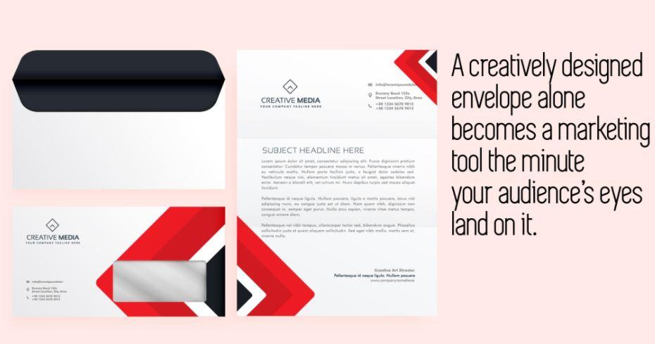 crafting a creatively designed envelope